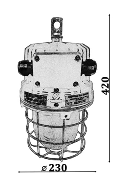 Explosion-proof light fittings ORION