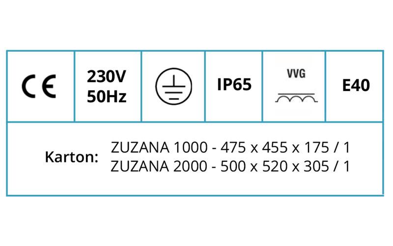 ZUZANA 1000/2000 ZUZANA 1000/2000